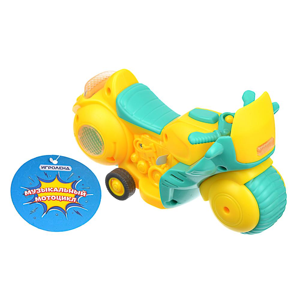 ИГРОЛЕНД Мини-мотоцикл, инерция, пластик, 15х8,7х7см, 4 дизайна