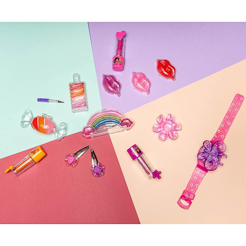 Набор косметики: блеск для губ 1 шт 4,2г, кисточка 1 шт, заколки 2 шт.