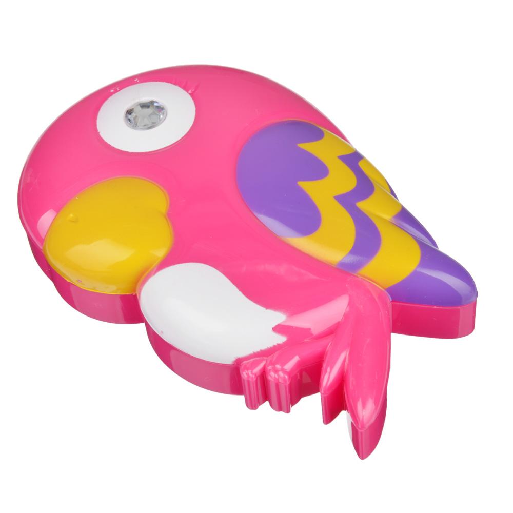 Набор детской косметики в виде попугая: тени 6 цветов 3,5г, помада 1 шт 0,5г