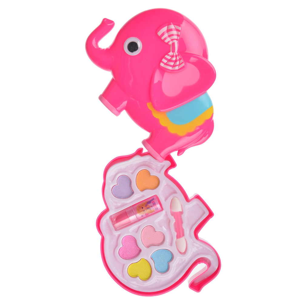 Набор детской косметики в виде слоника: тени 6 цветов 3,5г, помада 1 шт 0,5г