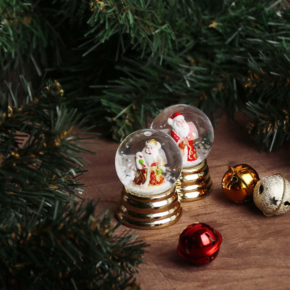 "СНОУ БУМ Снежный шар 6,3 см, полистоун, ""Новогодний"", 3 дизайна, арт 10"