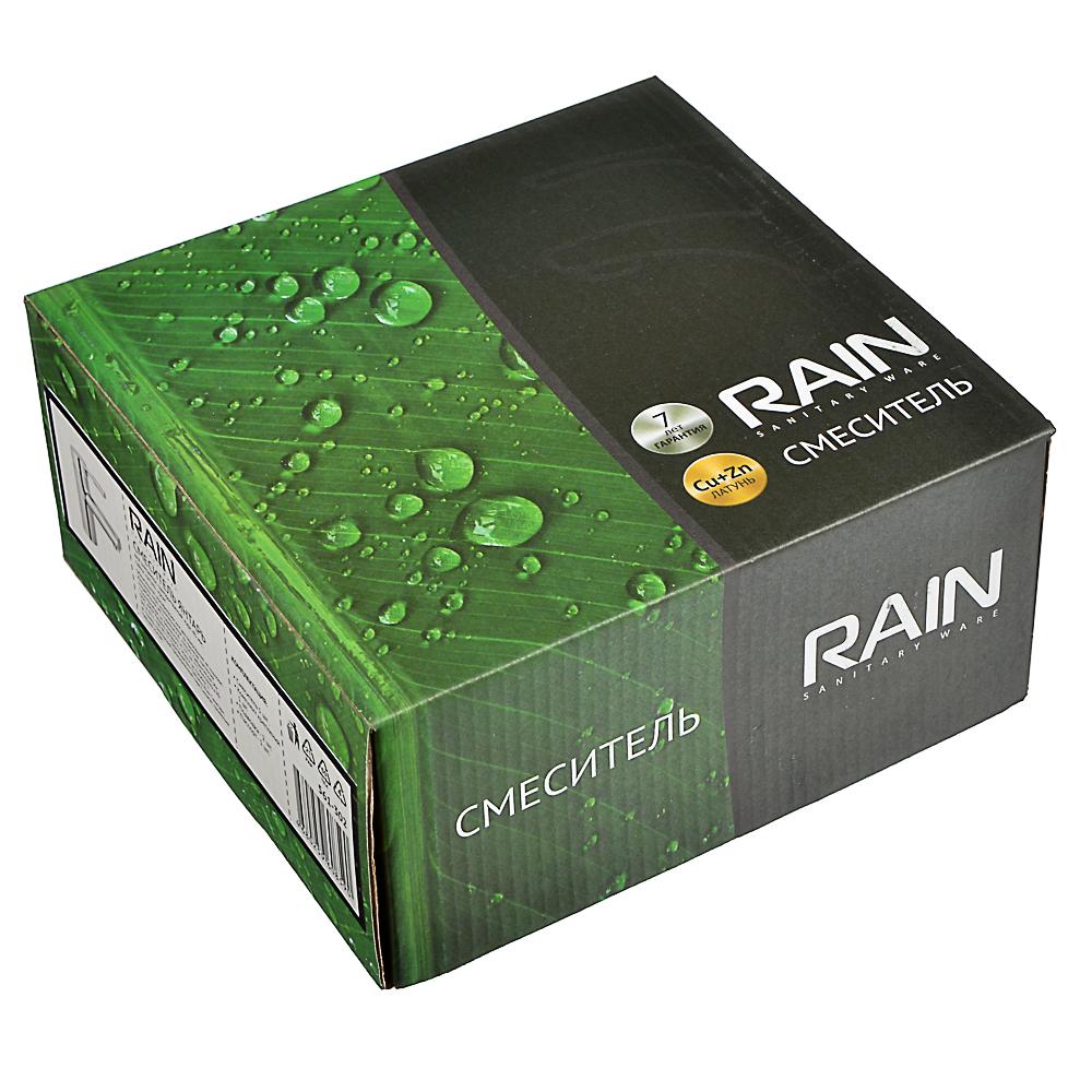 RAIN Смеситель для раковины Янтарь, однорычажный, карт. 40мм, гайка, латунь, хром