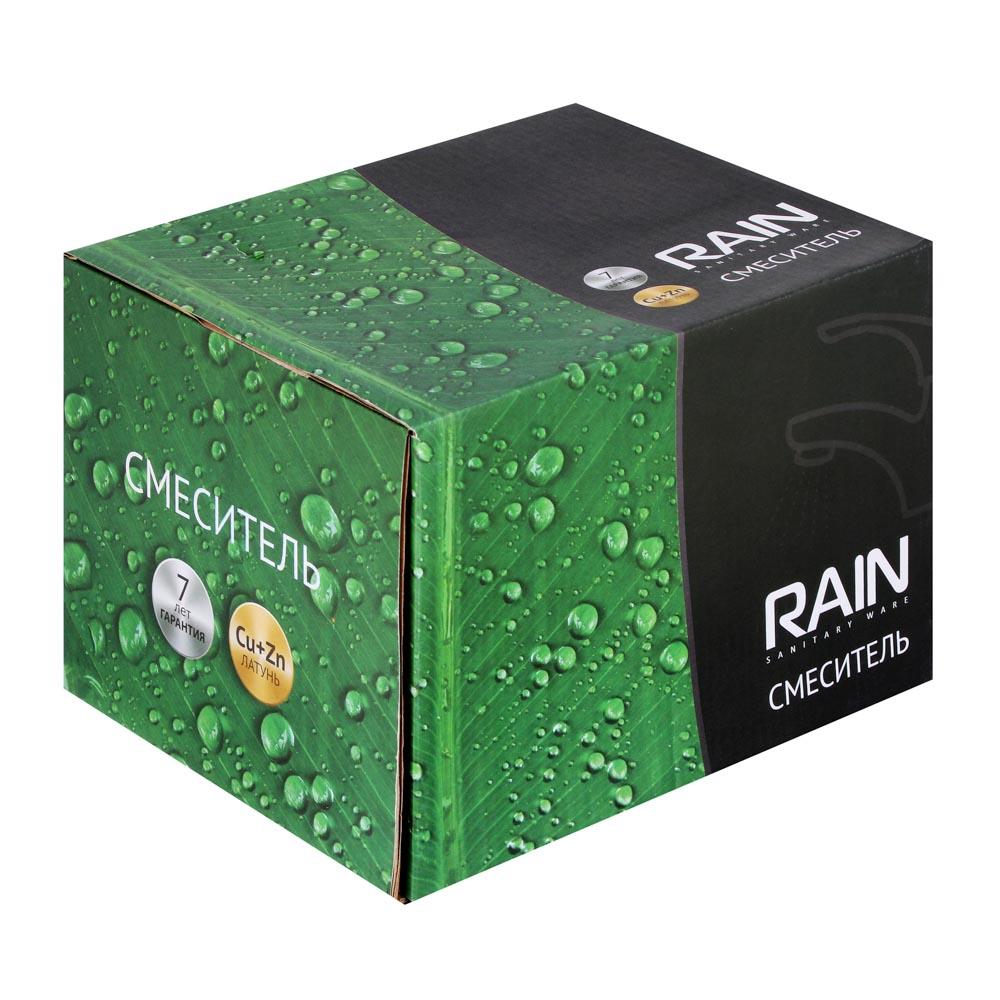 RAIN Смеситель для ванны Янтарь, однорычажный, кор излив, карт. 40мм, латунь, хром