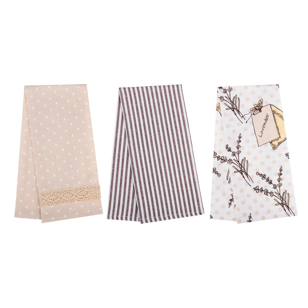 PROVANCE Сердца Комплект полотенец кухонных 3шт, 100% хлопок, 40х60см, 2 цвета