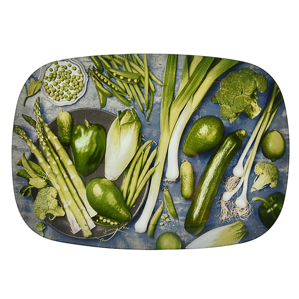 Овощи Блюдо прямоугольное, стекло, 35х25см