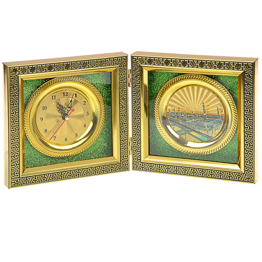Часы настольные, стекло, закрывающиеся, 16х16 см , 1хАА, МT. Арт 1