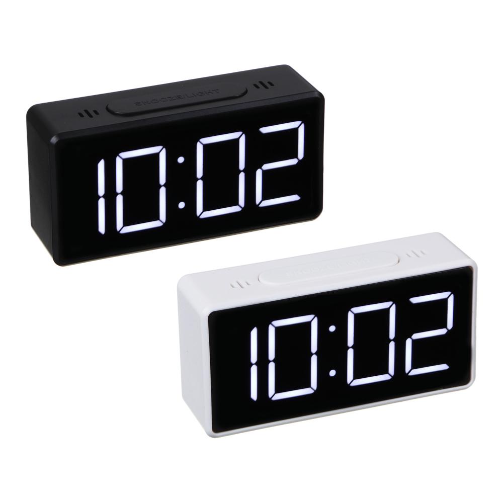 LADECOR Будильник электронный, термометр, 3хААА, USB, 10х3х5 см, 2 цвета