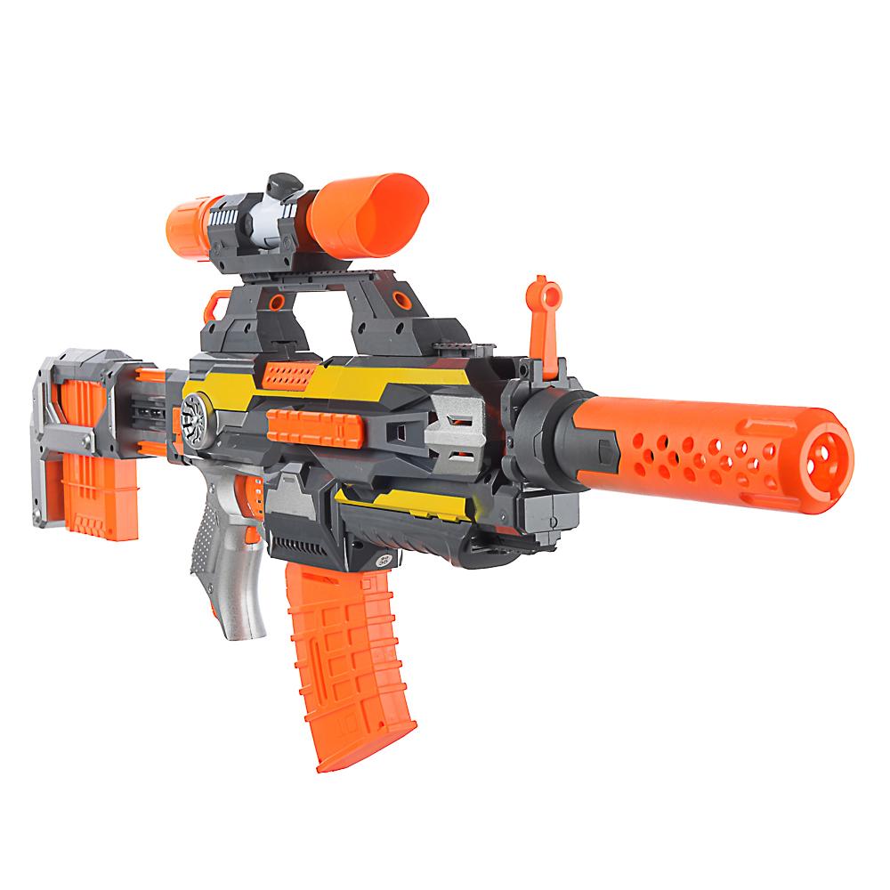 ИГРОЛЕНД Космо-бластер автоматический, с поролоновыми пулями, звук, 4АА, ABS, 67х37х8см