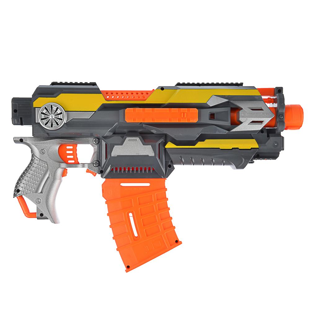 ИГРОЛЕНД Оружие автоматическое Мини с поролоновыми пулями, 4АА, пластик, 47х32х8см