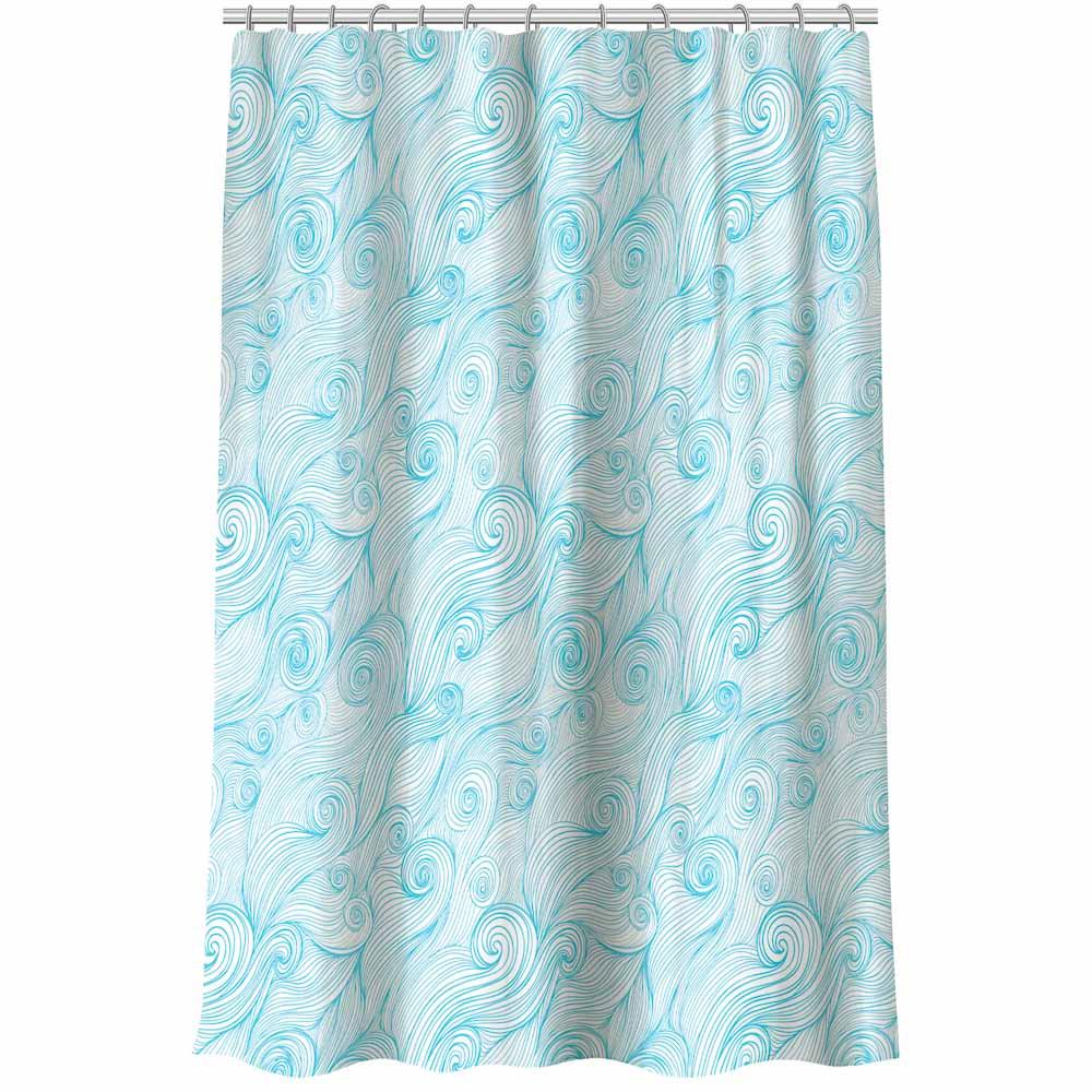 """VETTA Шторка для ванной, полиэстер, 180x180см, """"Волна"""", 4 дизайна"""