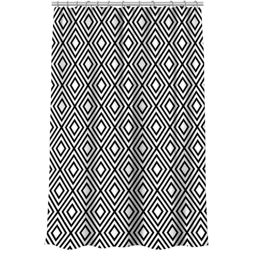 """VETTA Шторка для ванной, полиэстер (микрофибра), 180x180см, """"Геометрия """", 4 дизайна"""