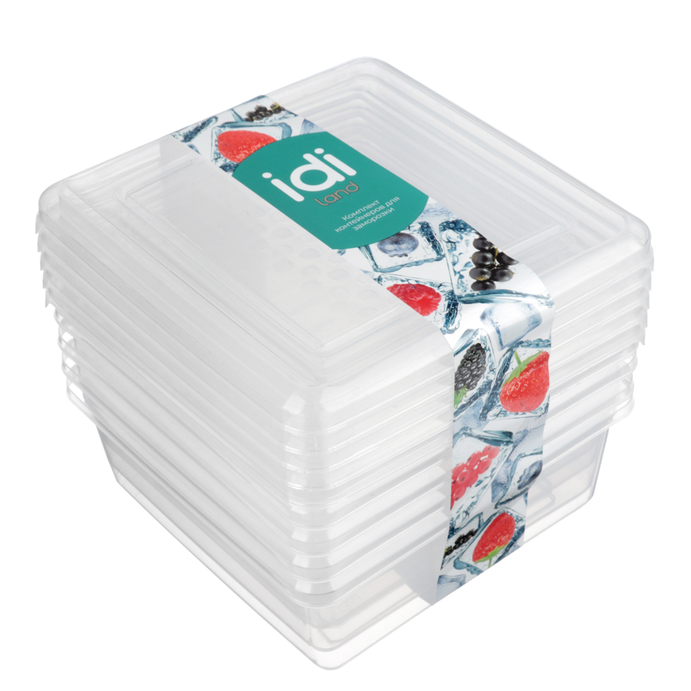 Набор контейнеров для заморозки 0,5л BioFresh 5шт, пластик