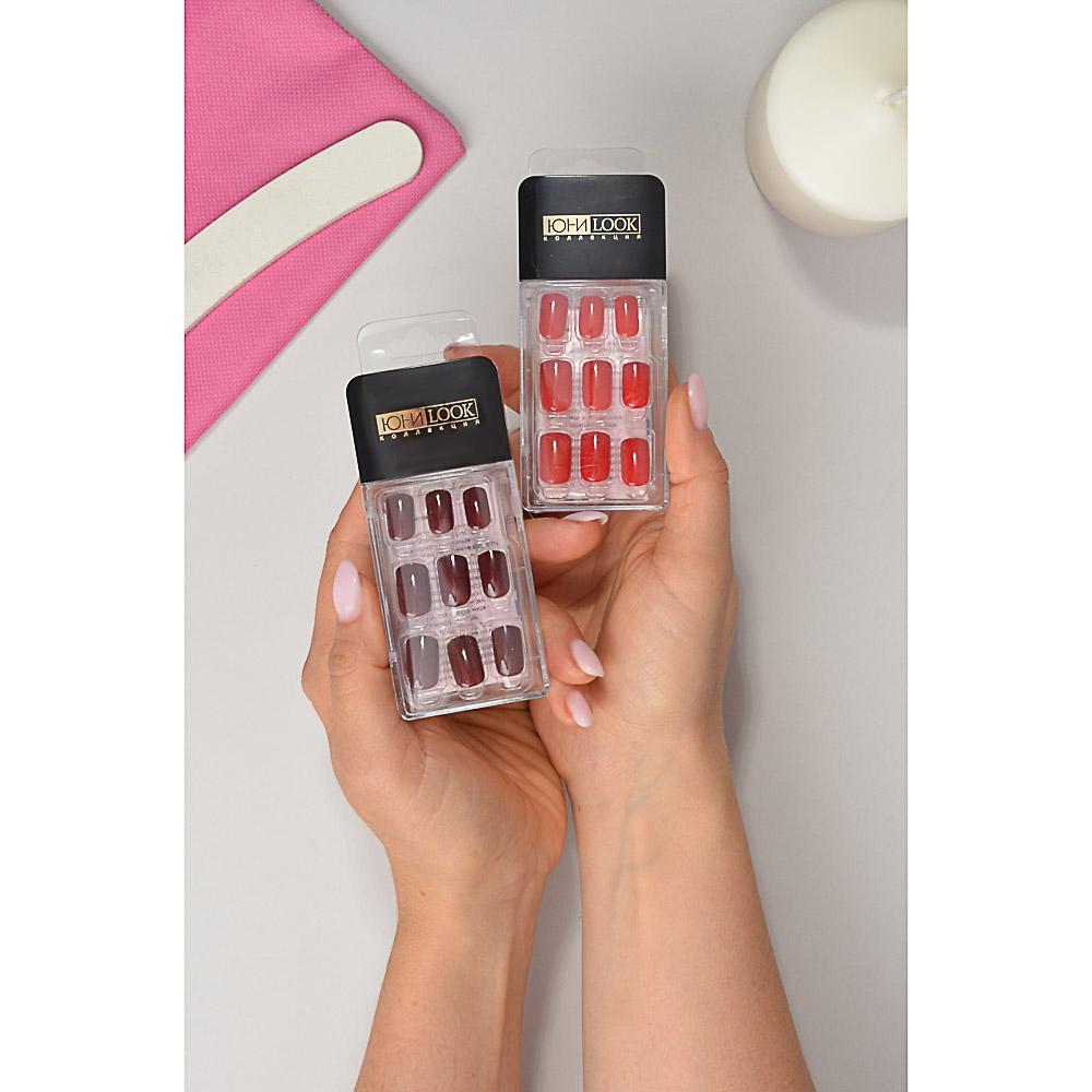 Накладные ногти на клеевой основе ЮниLook, 24 пластины, 6-12 цветов