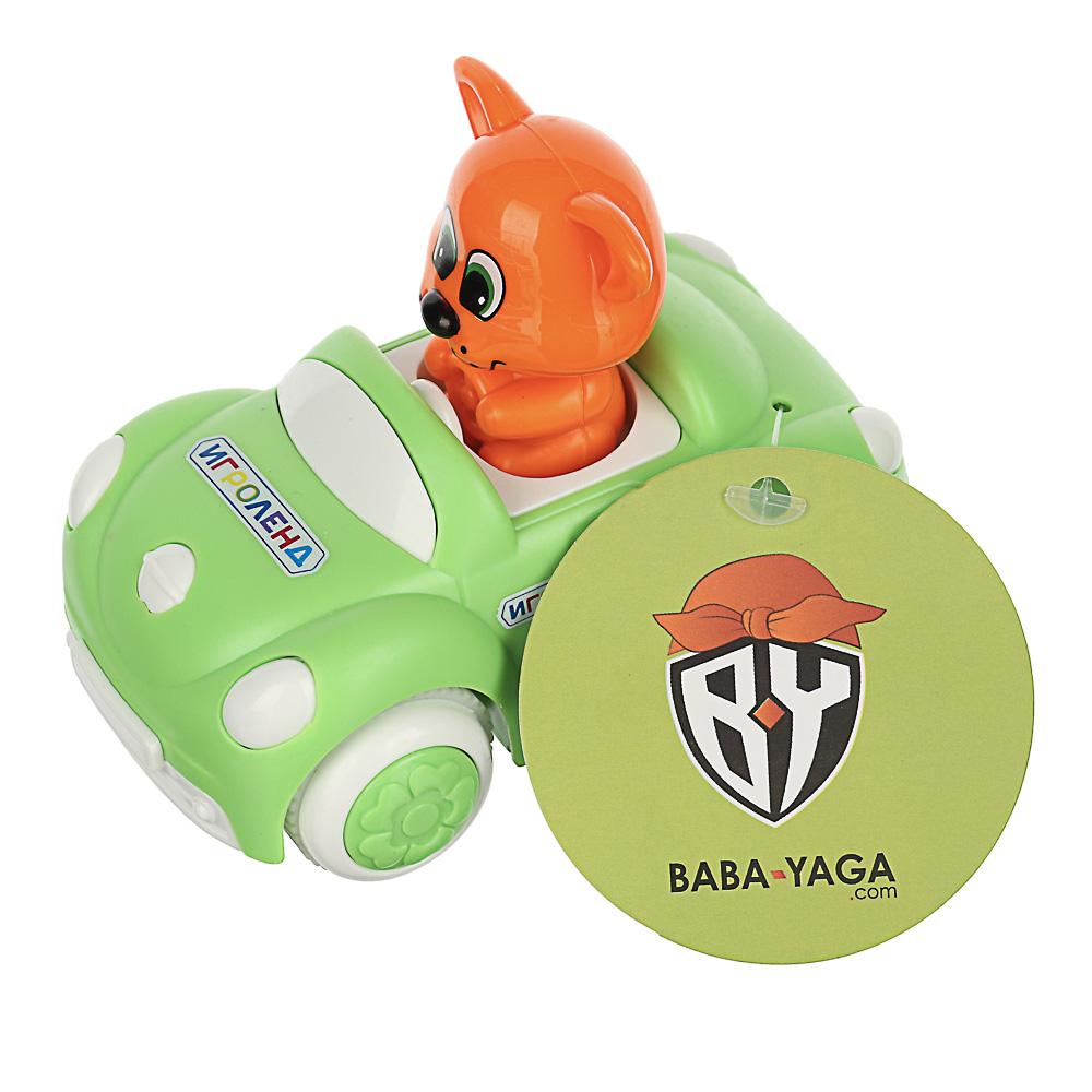 ИГРОЛЕНД Машинка инерционная с фигуркой, ABS, 10,4х6,7х8,2см, 2 дизайна