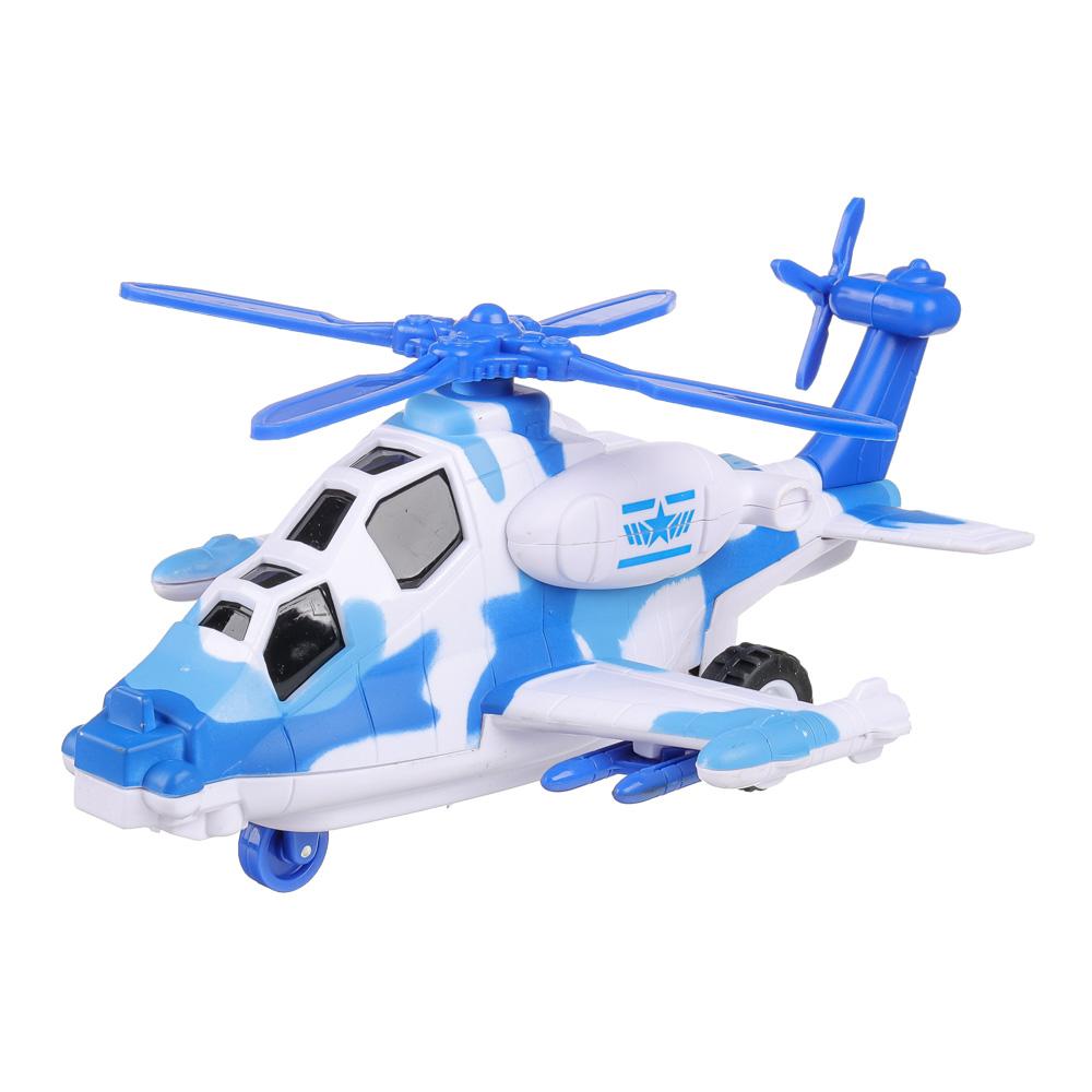 ИГРОЛЕНД Игрушка в виде вертолета, свет, звук, инерц., движение лопастей,3хLR44, пластик, 20х12х8,2с