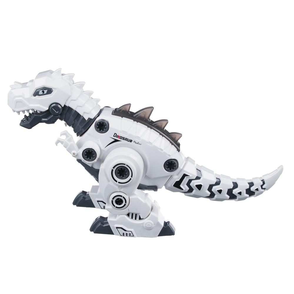 """ИГРОЛЕНД Конструктор """"Робо-Динозавр"""", свет, звук, движение, 2АА, пластик, 36х17-20х11,5см, 3 дизайна"""