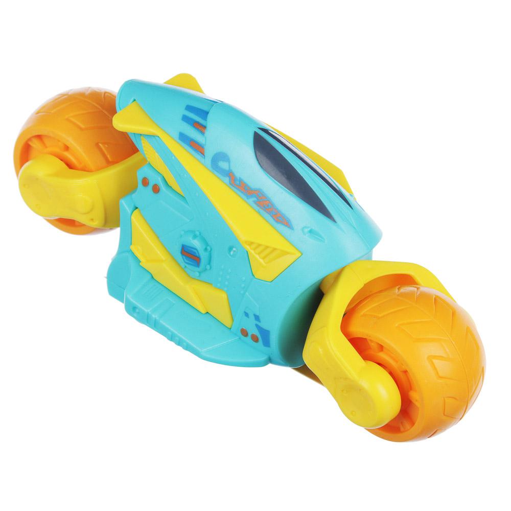 ИГРОЛЕНД Мотоцикл инерционный, пластик, 5х5,5х11см, 3 цвета