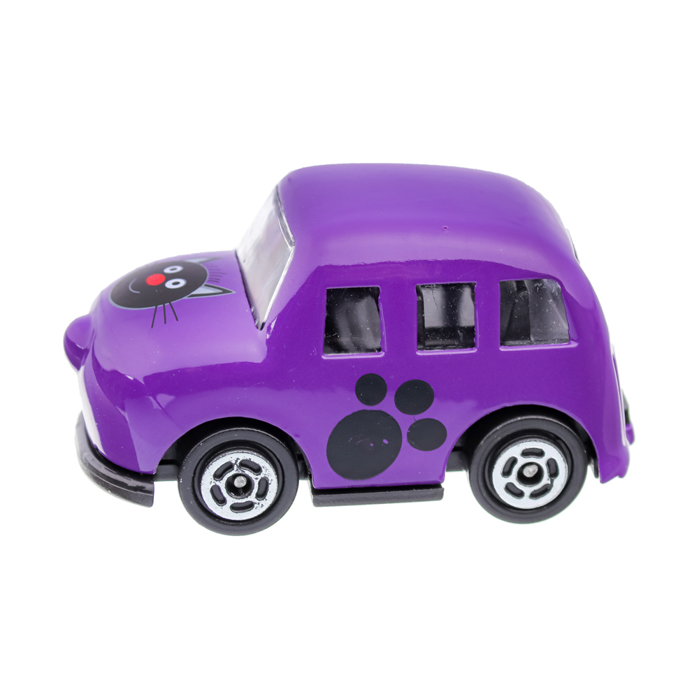 "ИГРОЛЕНД Машинка ""Три кота"", металл, пластик, 5х3х3,5см, 8 дизайнов"