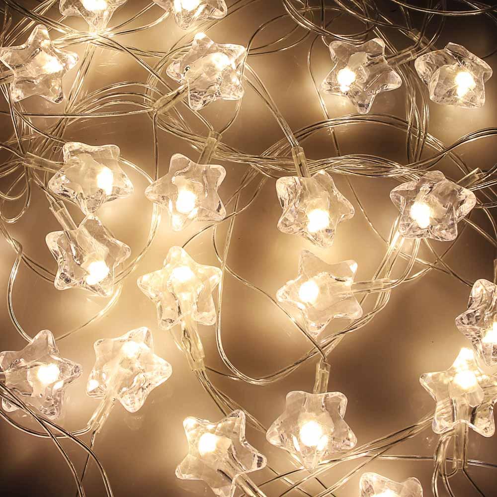 СНОУ БУМ Гирлянда эл. вьюн с насадкой 25 LED, 5м, ПВХ прозрачный, пост свечение, шампань 200В, 50Гц
