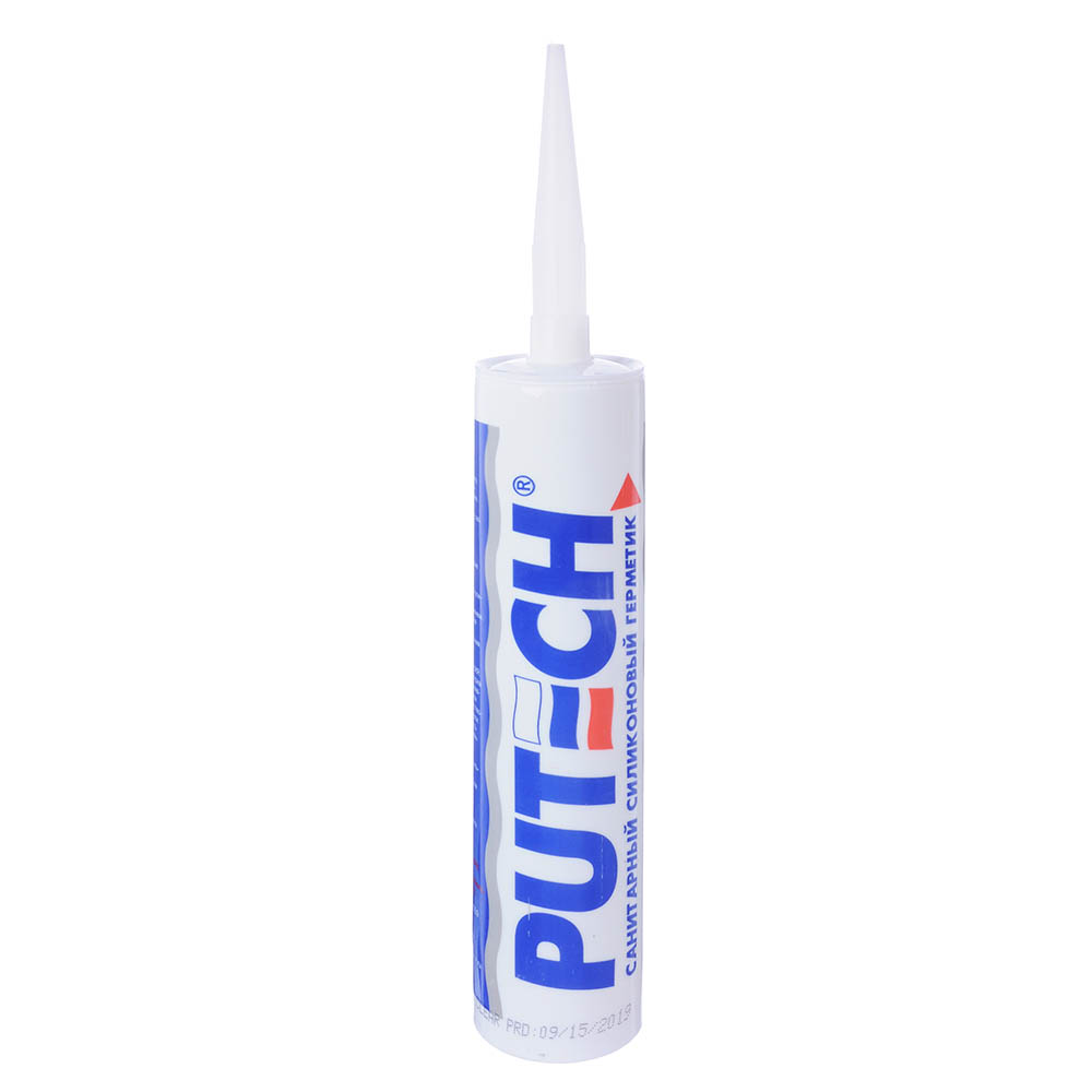 Герметик силиконовый PUTECH, санитарный, 280мл, белый