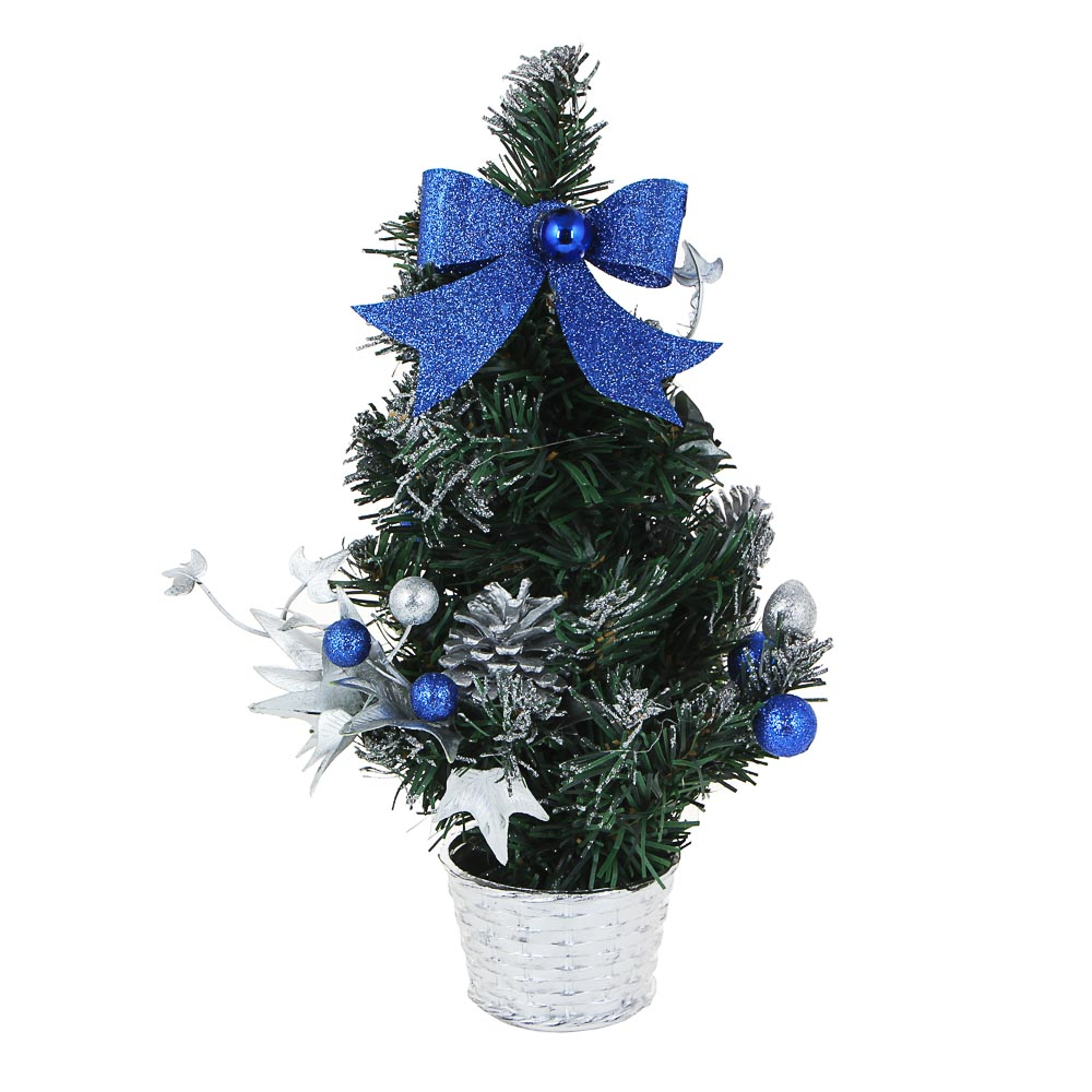 СНОУ БУМ Елка декоративная, пластик, полиэстер, 30 см, 5 цветов