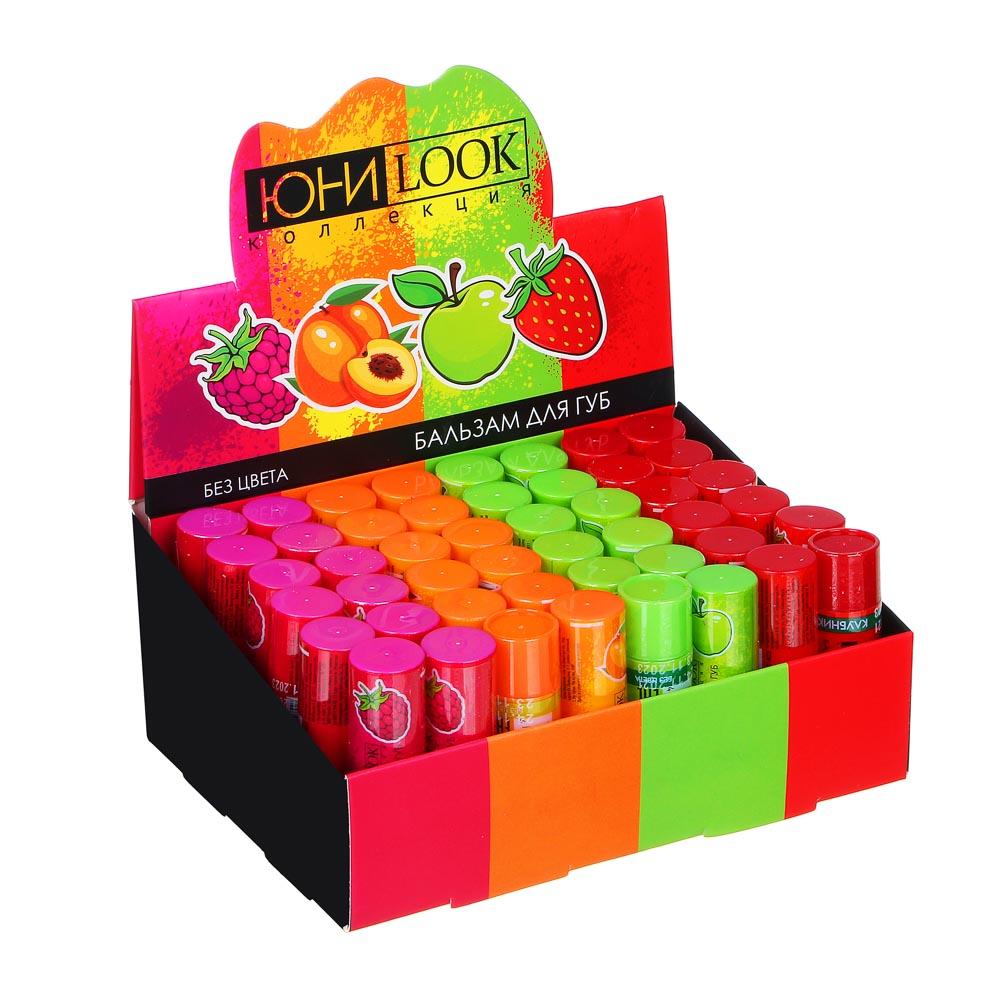 ЮниLook Бальзам для губ, 3,5г, яблоко, персик, малина, клубника