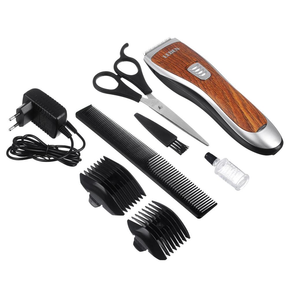 LEBEN Машинка для стрижки волос, 3 Вт, под дерево, регулируемая насадка