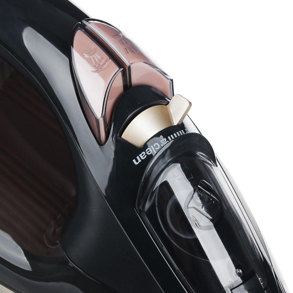 LEBEN Утюг с отпаривателем 2600 Вт, подошва - керамическое покрытие, сенсор
