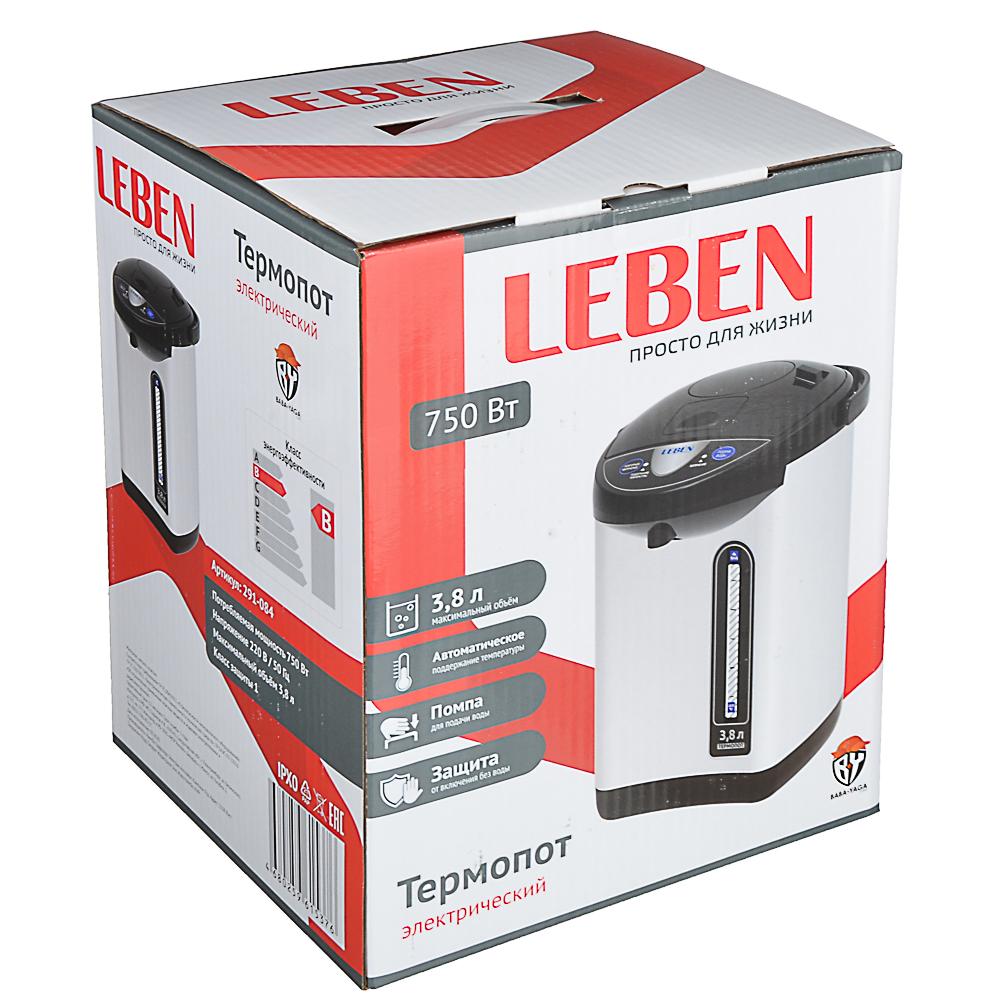 LEBEN Чайник-термопот 3,2л, 750Вт, автоматич. поддержание температ., металл