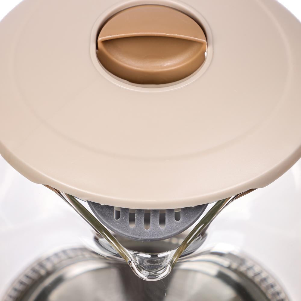 LEBEN Чайник электрический со стеклянной колбой, 1850 Вт, 1,8л