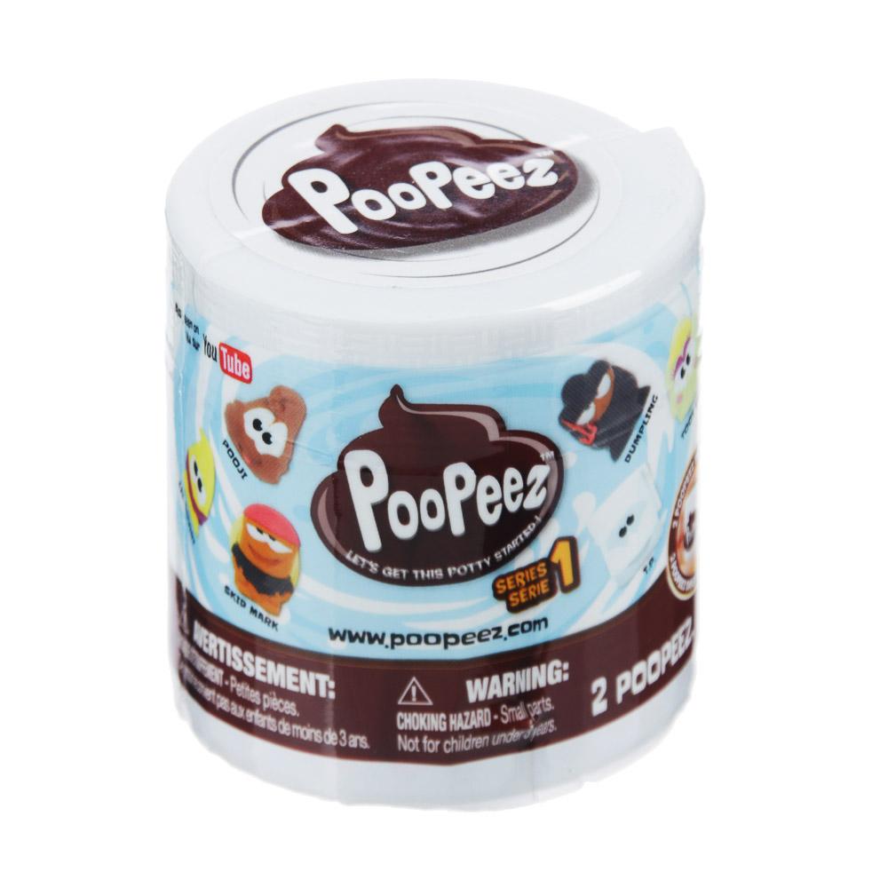 POOPEEZ Игрушка в виде туалетной бумаги с фигуркой, пластик, 5x5x4см