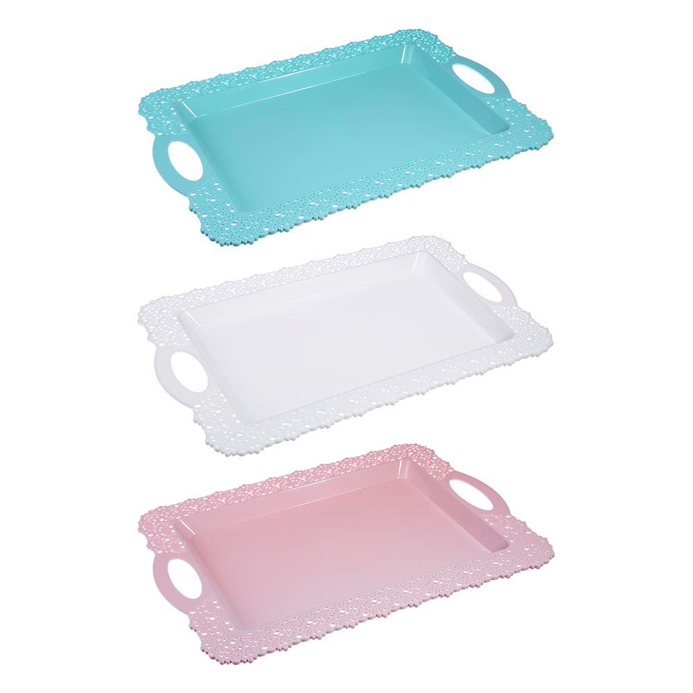 Поднос, пластик, 43х30,5х2,4см, 3 цвета