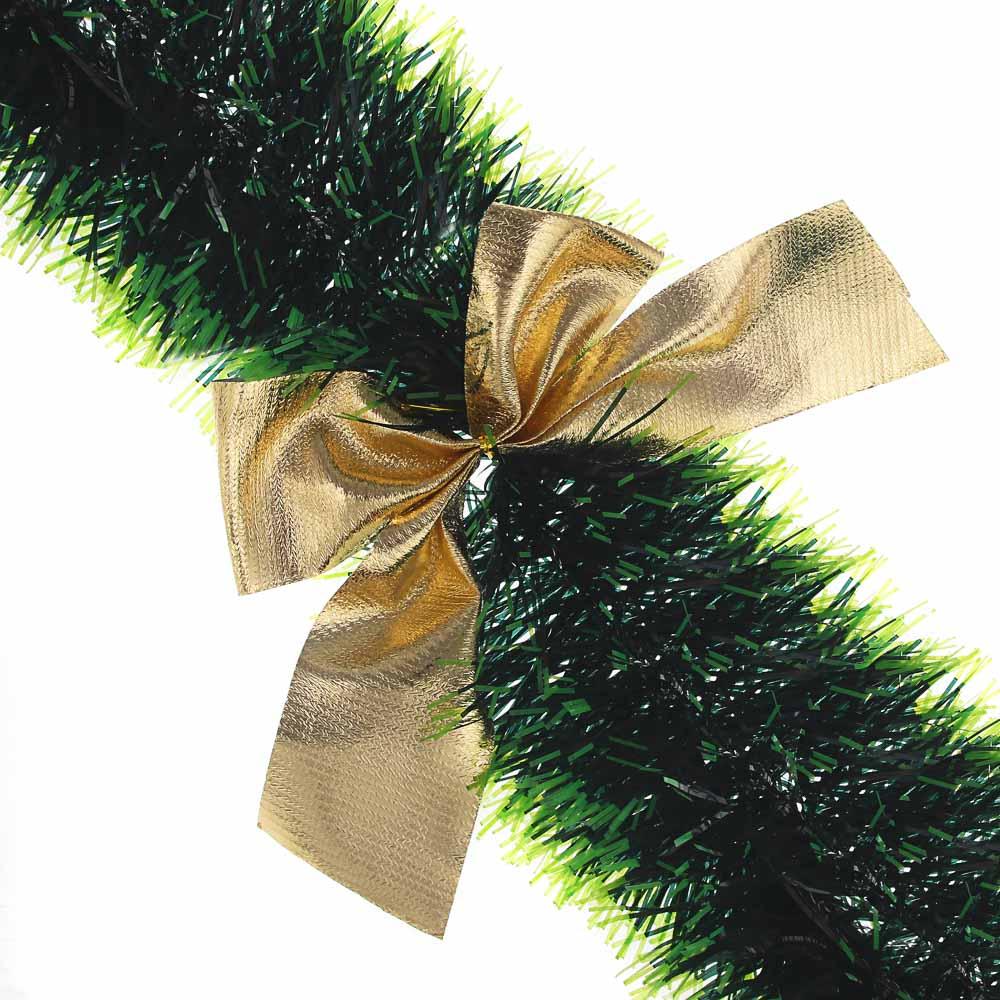 СНОУ БУМ Мишура зеленая, с декором, 200х11см, ПВХ, 2 вида
