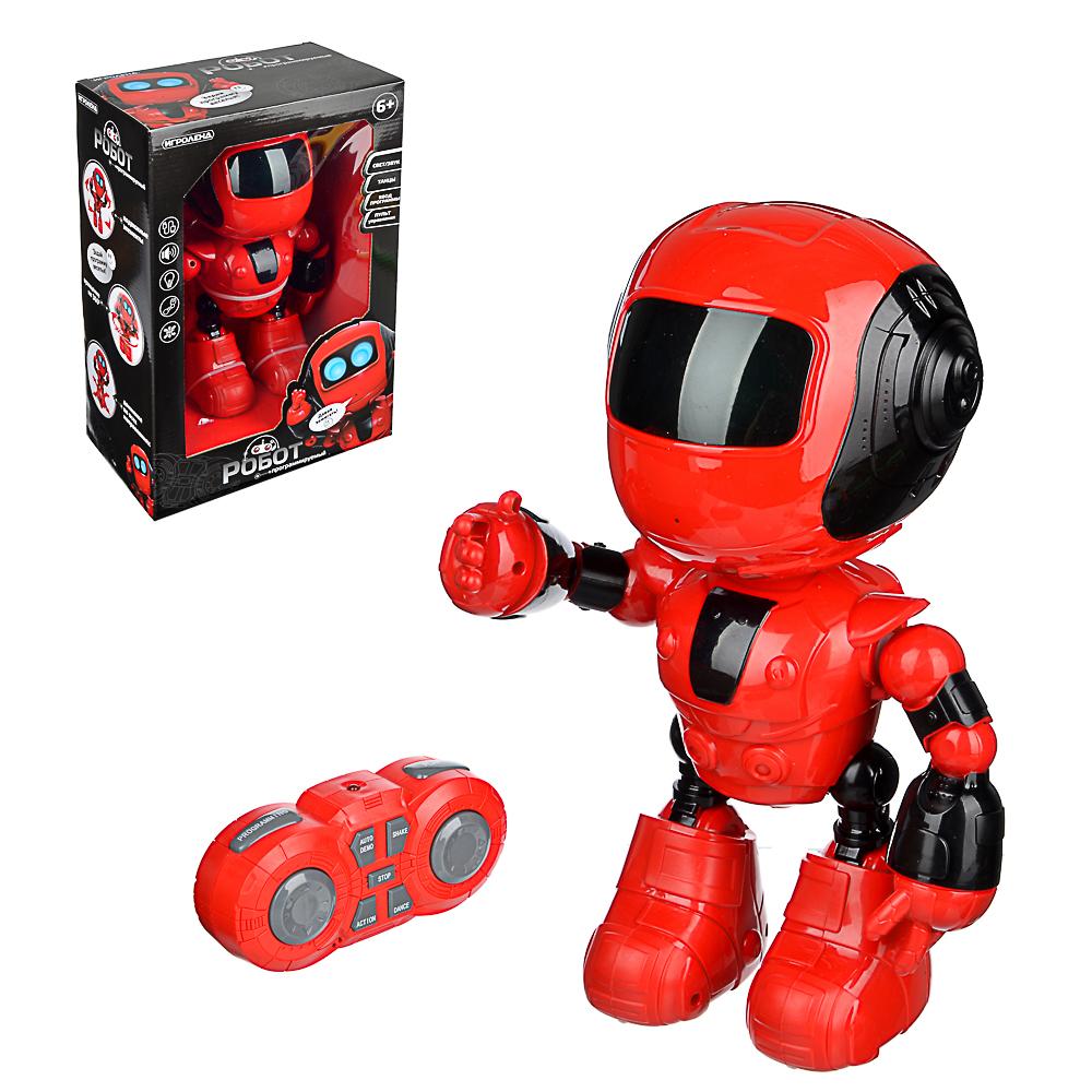 ИГРОЛЕНД Игрушка в виде робота программ. ABS, свет, звук, движ., 2АА, ЗУ/АКБ, 24х15,5х37,5 см