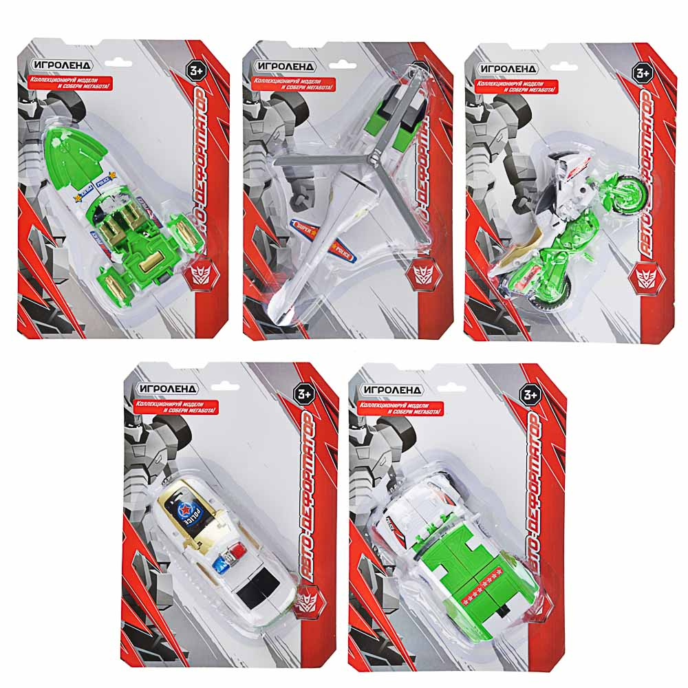 ИГРОЛЕНД Авто-деформатор, пластик, 17х24х5,5-7 см, 5 дизайнов