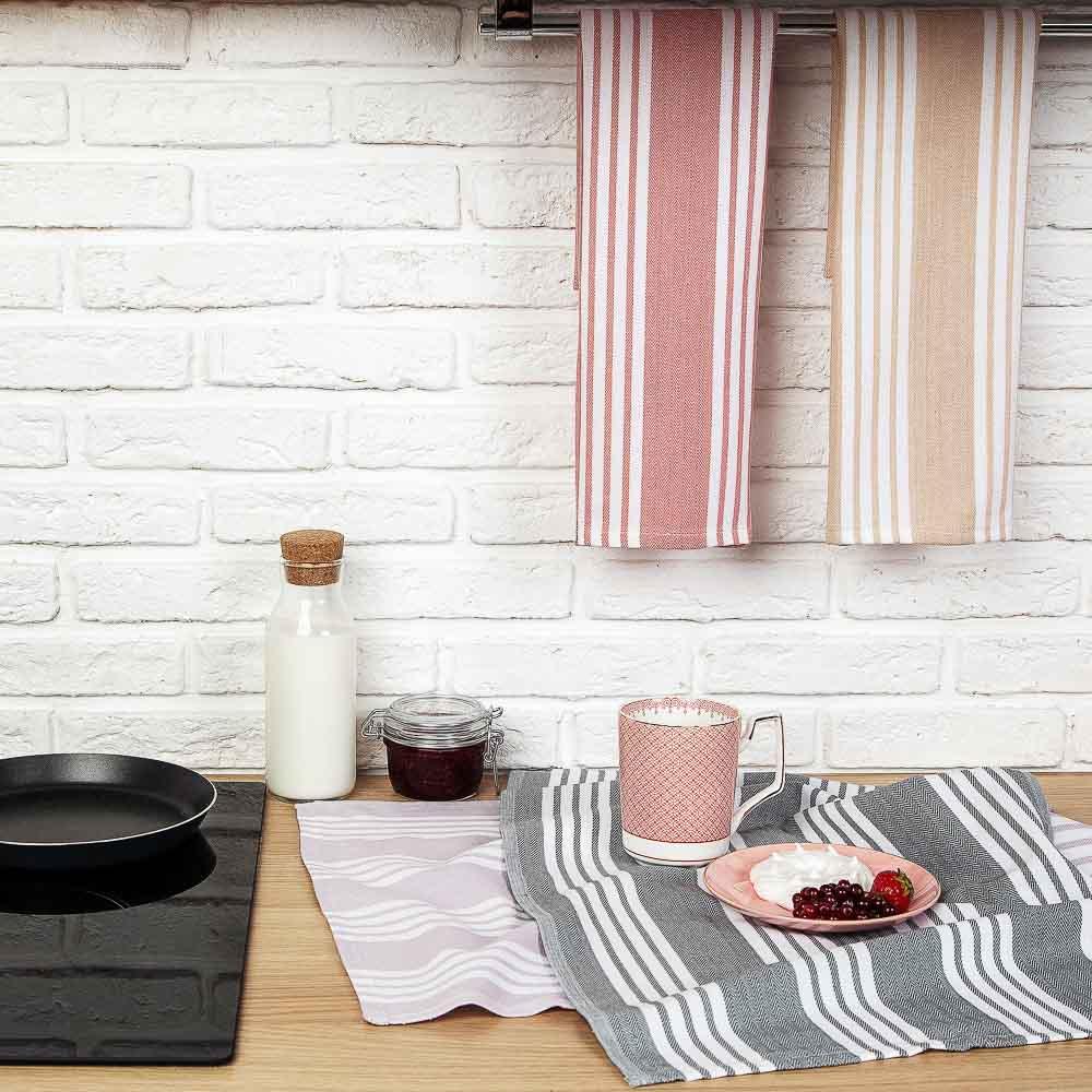 PROVANCE Гармония Полотенце кухонное пестротканное, 100% хлопок, 40х60см, 260гр/м, 4 цвета