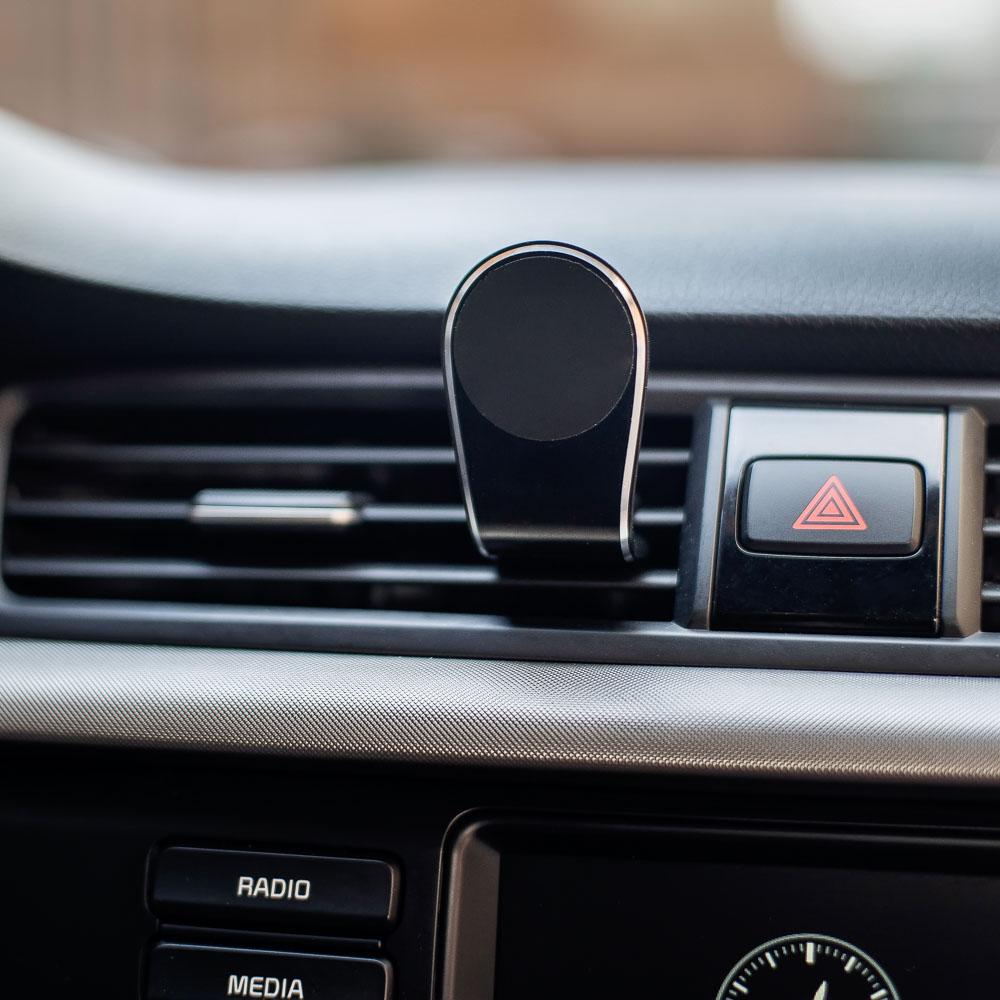 NG Держатель телефона магнитный на дефлектор, Г-образный, пластик, черный