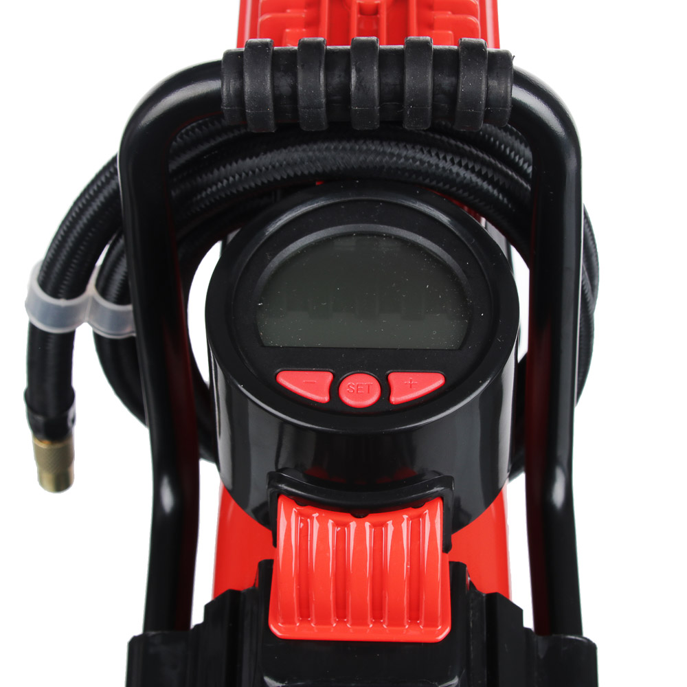 NEW GALAXY Компрессор автом, манометр, штекер прикур, LED фонарь, 12V, 120W, 35 л/мин, металл