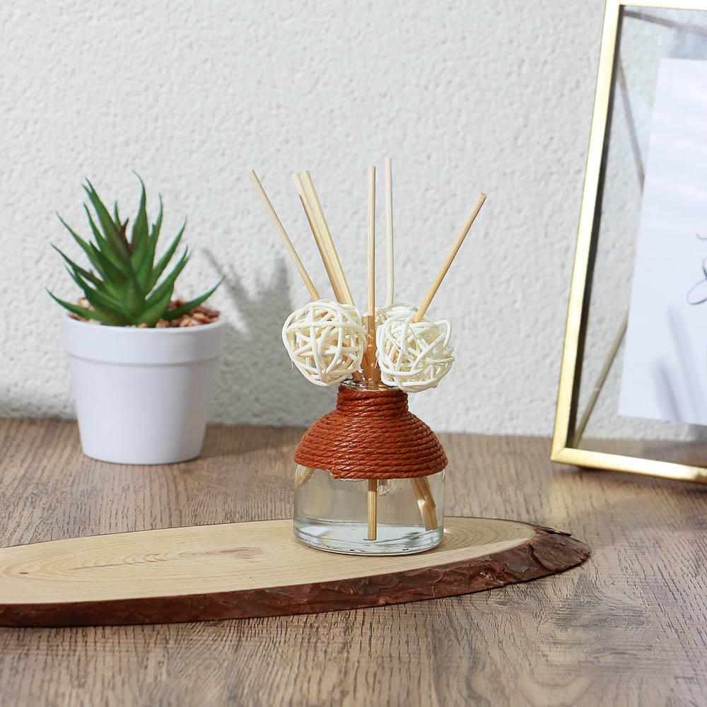 LADECOR Аромадиффузор с палочками, 50мл (роза и эвкалипт, яблочный пирог, дыня и огурец)