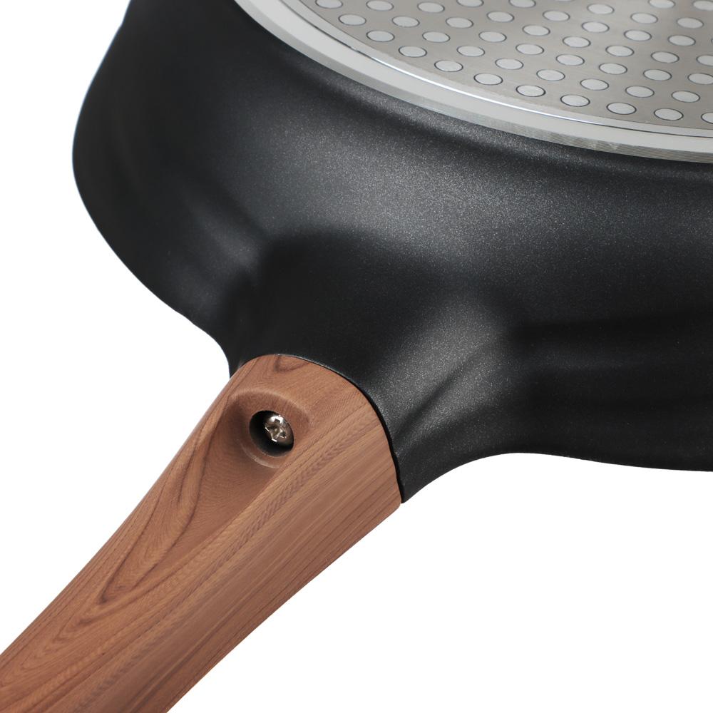 SATOSHI Карнуа Сковорода литая d26см, антипригарное покрытие Мрамор, индукция