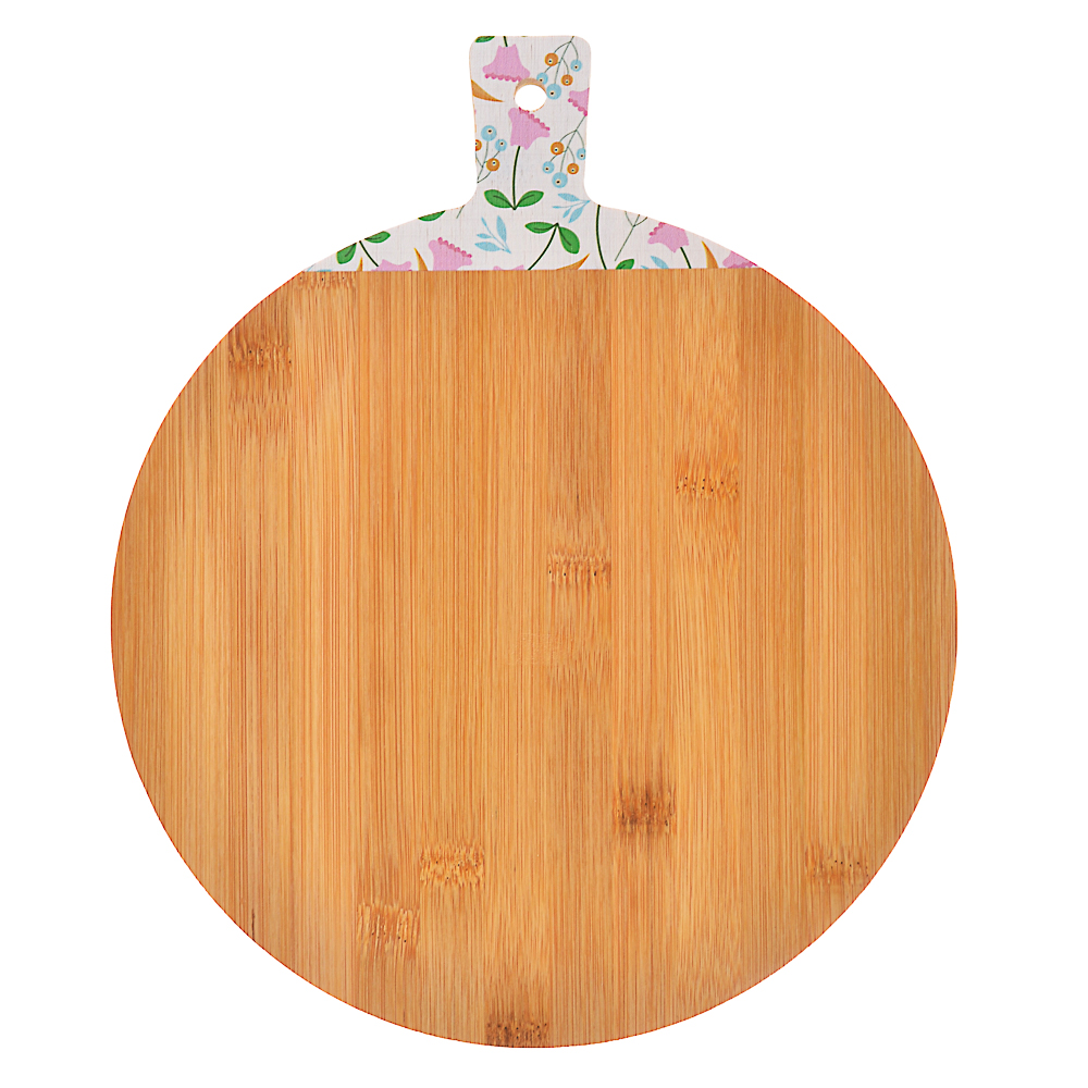 VETTA Гринвуд Доска разделочная бамбук с принтом, 30х25х1,0см
