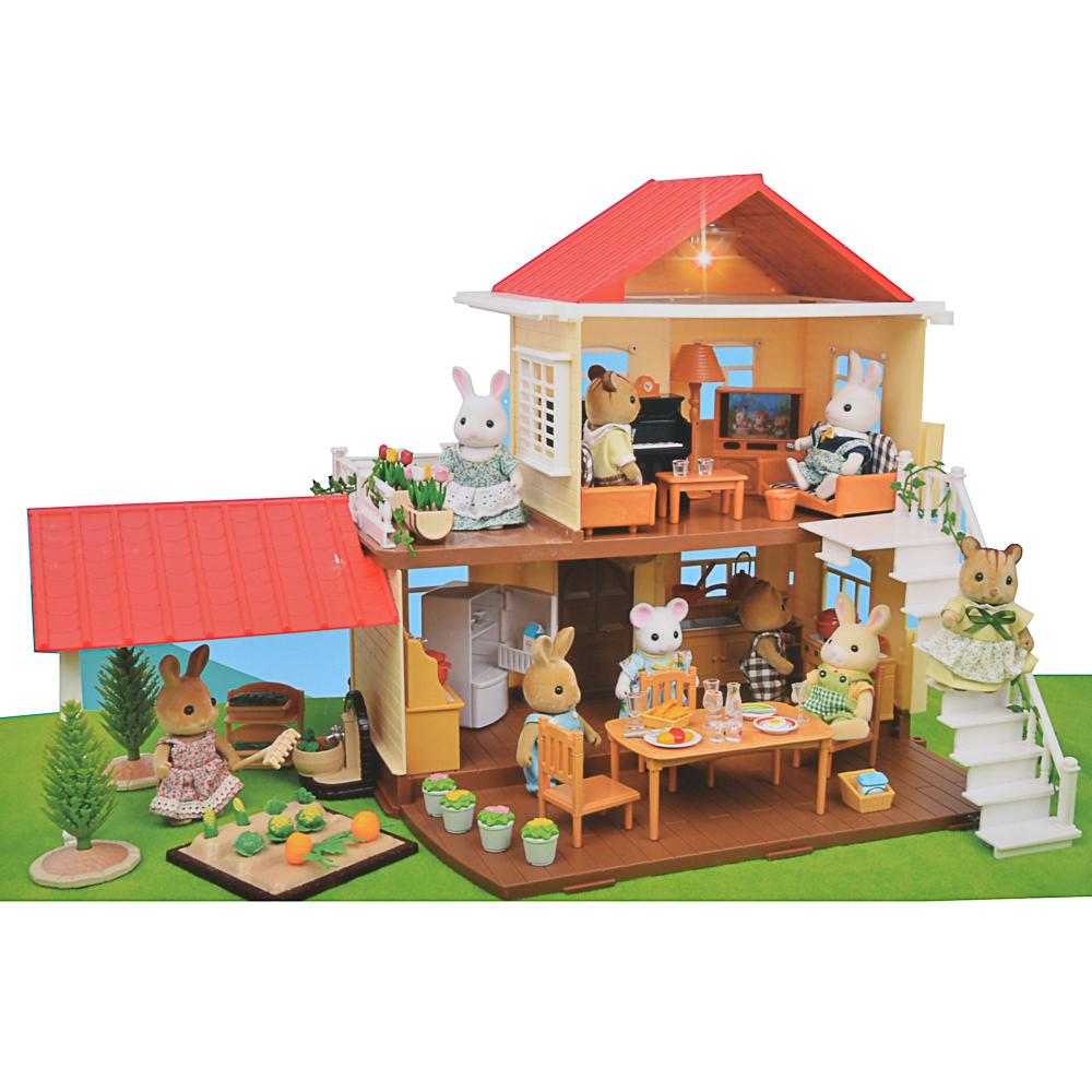 "ИГРОЛЕНД Набор домик для питомцев ""Счастливая семья"" с подсветкой, 3хAG10,ABS,PP, 58х31,5х9,5см"