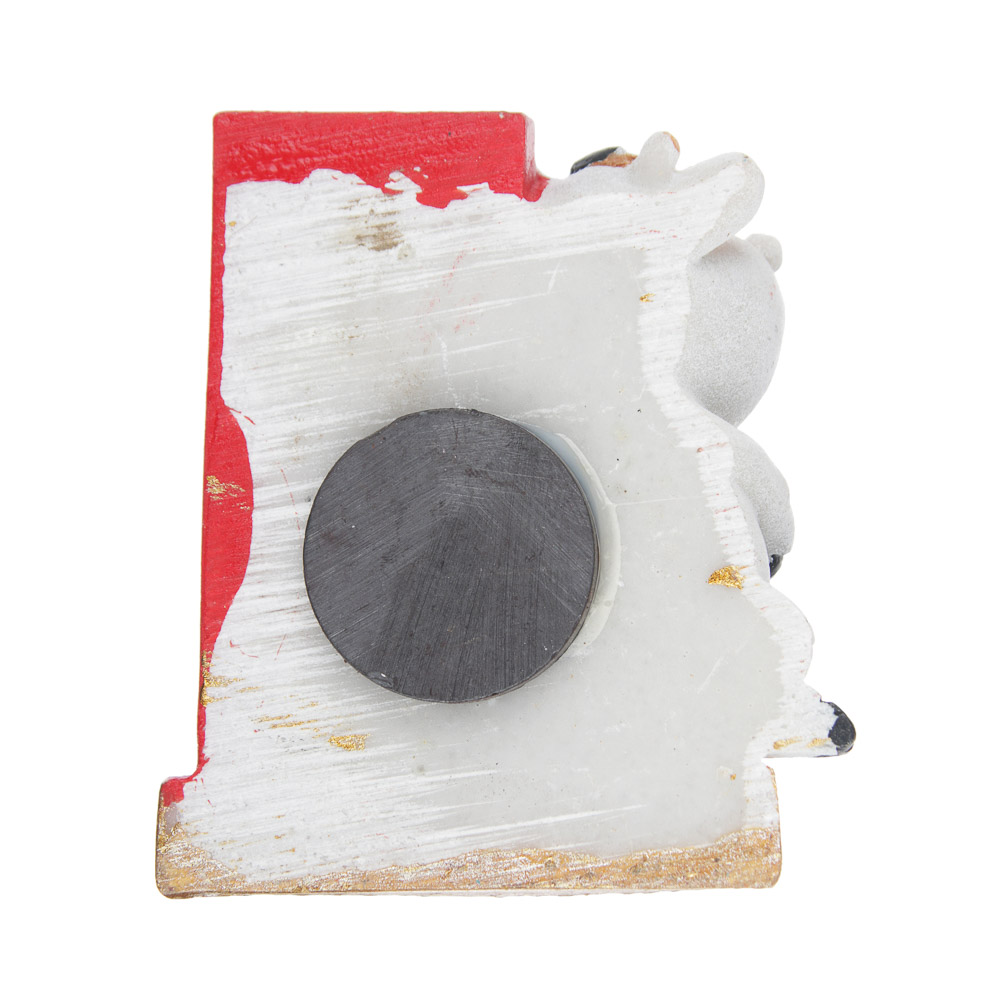 СНОУ БУМ Магнит с термометром Символ Года 2021, полистоун, 5,5х5см, 4 дизайна