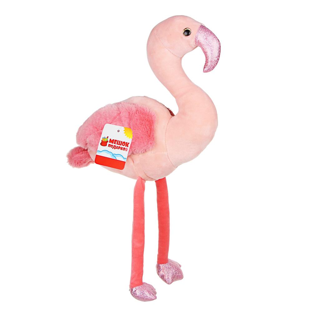 МЕШОК ПОДАРКОВ Игрушка мягкая в виде фламинго, 45-48см, полиэстер