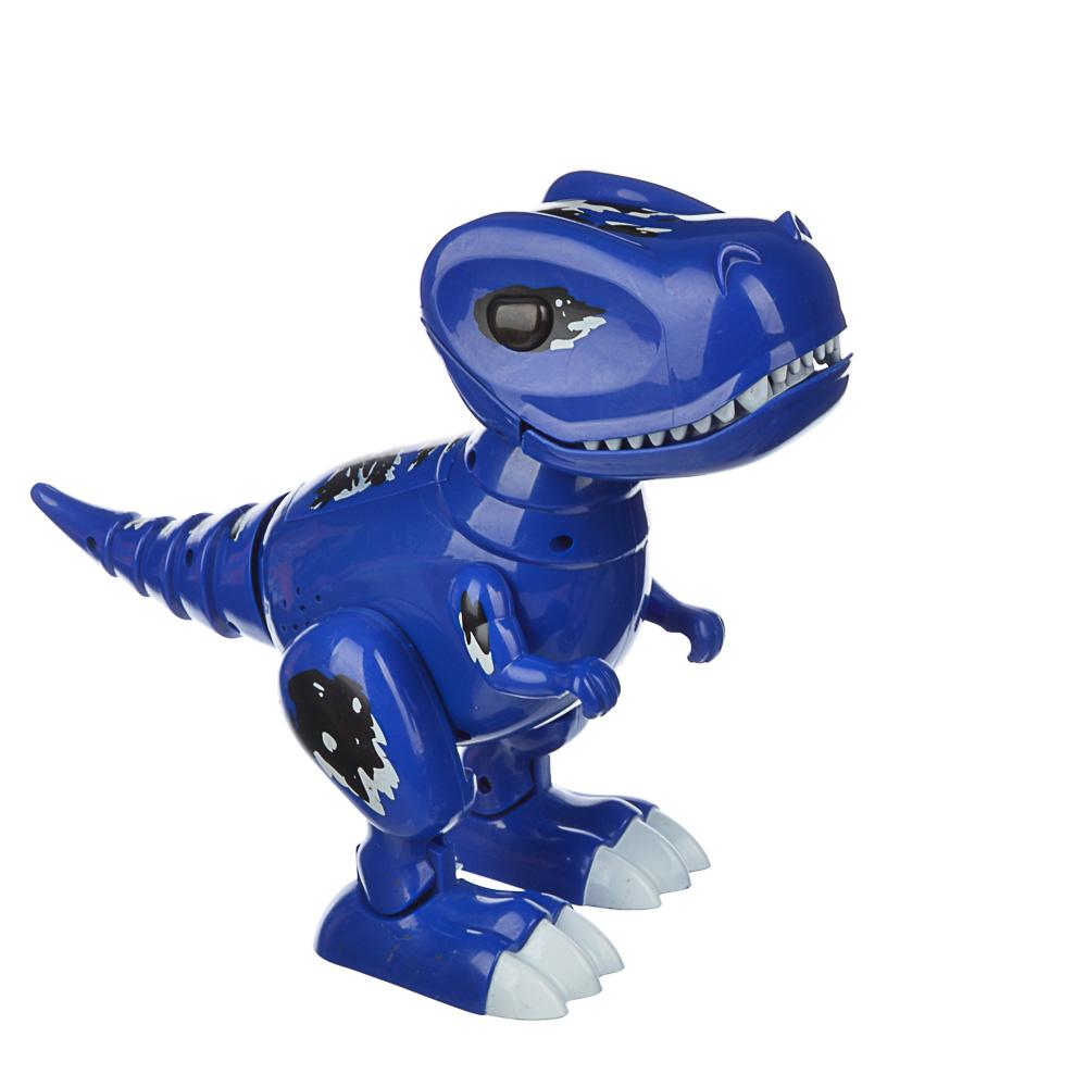 "ИГРОЛЕНД Робот-динозавр ""Динопитомец Тироня"" звук, свет, движ., пластик, 3АА, 26х20,5х10см, 2 цвета"