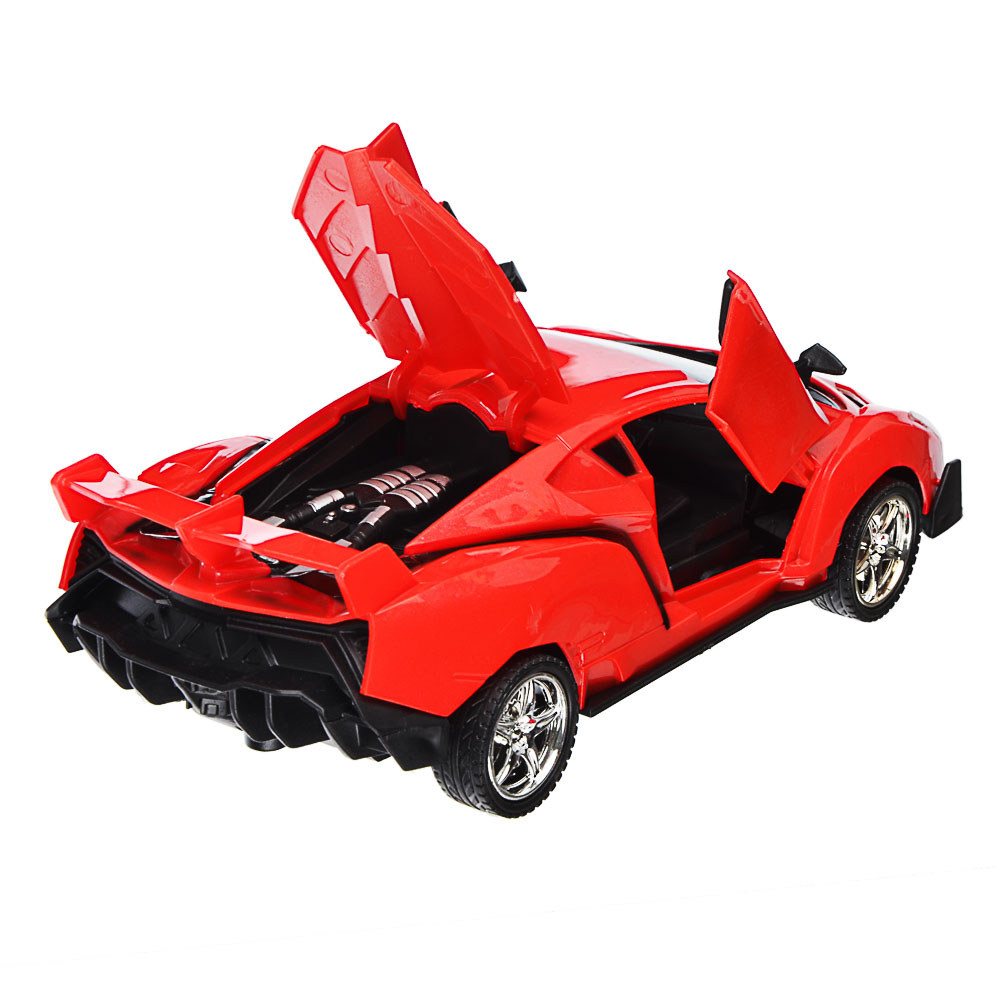 """ИГРОЛЕНД Машина радиоуправляемая """"Спорткар"""" двери откр,свет, ABS, 5хАА, 25,7х13,2х10,8см, 6 дизайнов"""