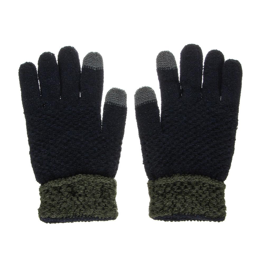 Перчатки мужские контактные, р-р 22, 100% полиэстер, 3 цвета, ПВ2020-17