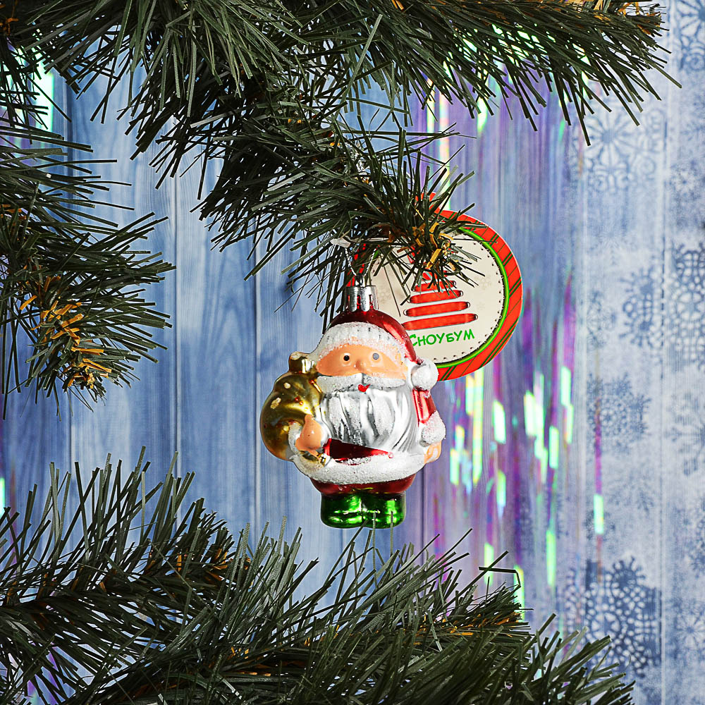 "СНОУ БУМ Подвеска ""Дед Мороз"", 8,5см, пластик"