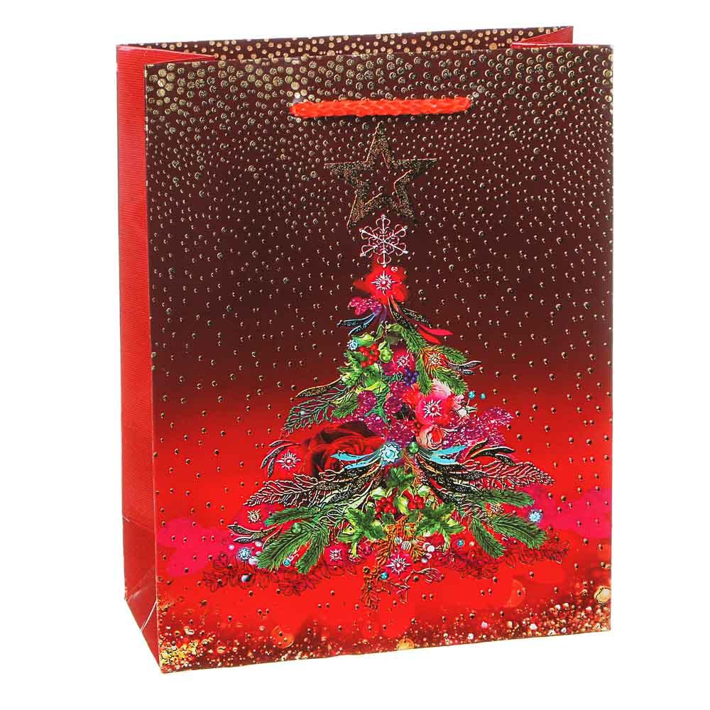 СНОУ БУМ Пакет подарочный, 18х23х8см, высококач.бумага,тиснение фольгой, глиттер,6-12диз. арт.2021-1