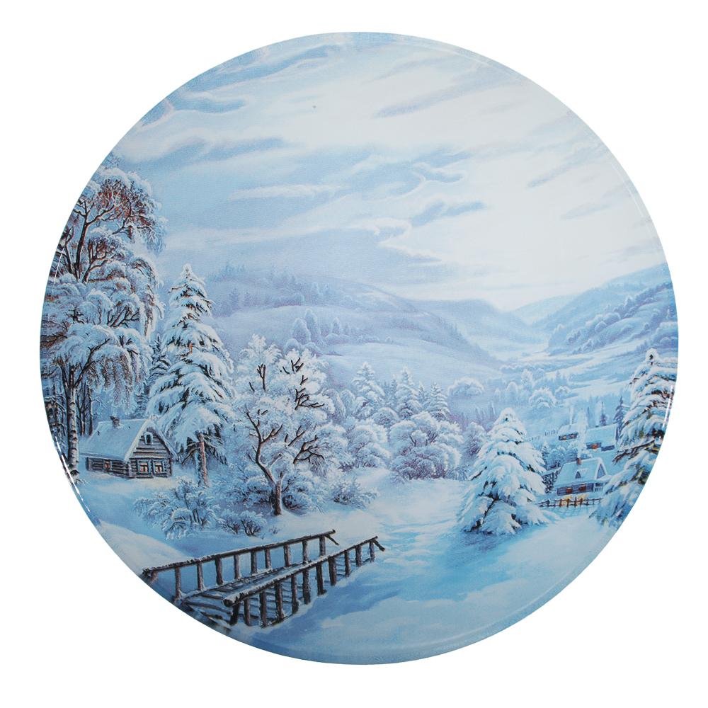 Зимнее утро Салатник круглый 18х4,5см, стекло
